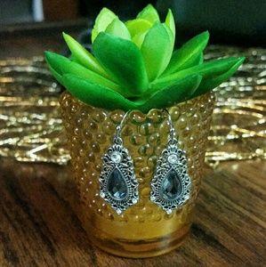 Blue and White Crystal Lia Sophia Earrings